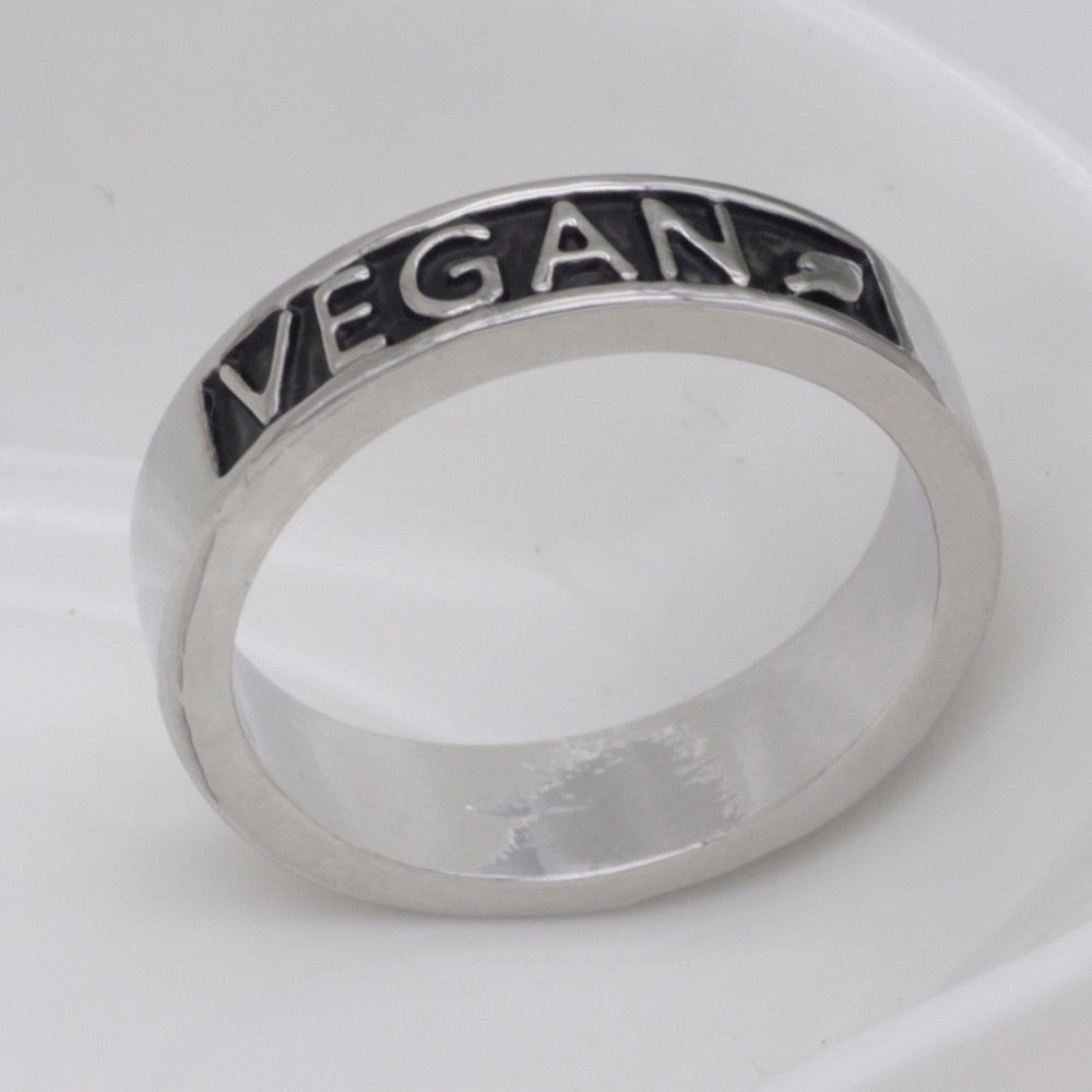 Vegan Stamped Ring  - [variant_title] - Project Love Back