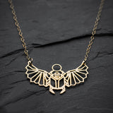 Geometric Scarab Beetle Egyptian Necklace  - [variant_title] - Project Love Back