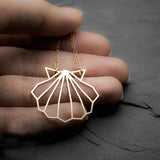 Geometric Shell Pendant Necklace  - [variant_title] - Project Love Back