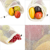 Reusable Cotton Fruit & Vegetable Mesh Bags  - [variant_title] - Project Love Back