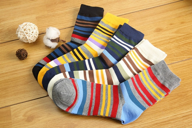 Mens Bamboo Socks - 5 Pairs  - Multi 1 - Project Love Back