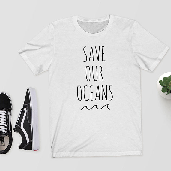 """Save Our Oceans"" Unisex Tee  - White / S - Project Love Back"