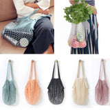 Reusable Net Style Cotton Tote/Shoulder Bag  - [variant_title] - Project Love Back