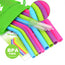 10 Piece Reusable BPA free Silicone Drinking Straw Set
