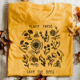 """Plant These - Save The Bees"" Unisex Tee  - [variant_title] - Project Love Back"