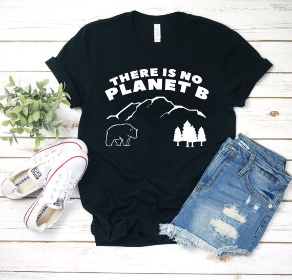 """There Is No Planet B"" Unisex Tee  - Black / L - Project Love Back"