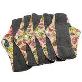 5 Bamboo Charcoal Reusable Sanitary Pads  - [variant_title] - Project Love Back