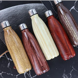 500ml Wood Effect Insulated Bottle  - [variant_title] - Project Love Back