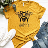 """Bee Happy"" Tee  - [variant_title] - Project Love Back"