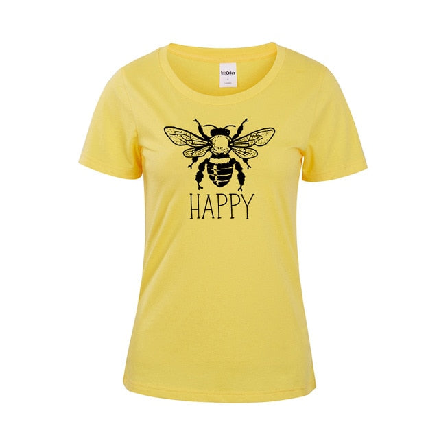 """Bee Happy"" Tee  - Yellow / 4XL - Project Love Back"