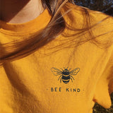 """Bee Kind"" Pocket Print Tee  - Yellow / S - Project Love Back"