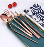 6 Piece Travel Cutlery Set  - [variant_title] - Project Love Back
