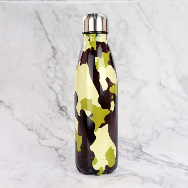 500ml Camouflage Insulated Bottle  - 1 - Project Love Back
