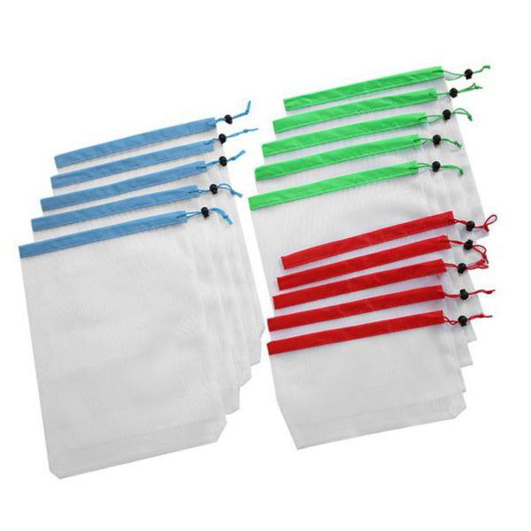 Set of 15 Reusable Mesh Fruit & Vegetable Bags  - [variant_title] - Project Love Back
