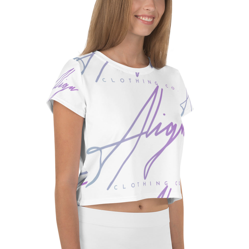 Signature All-Over Print Crop Tee