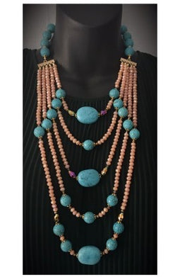 Turquoise Splendor layers Necklace