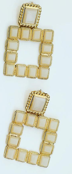 Ivory square  Chic earings
