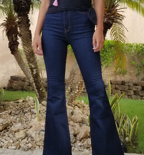 Dark Stone High Waist Denim