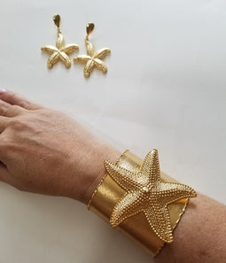 Star fish earings & Cuff set