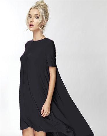Black Hi low Maxidress