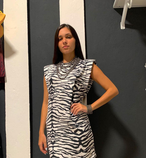 Zebra Print Padded dress