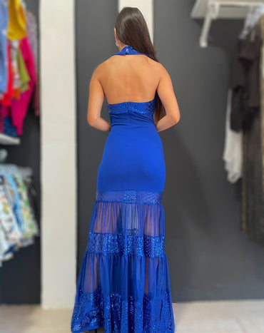 Royal Blue Magestic Maxidress