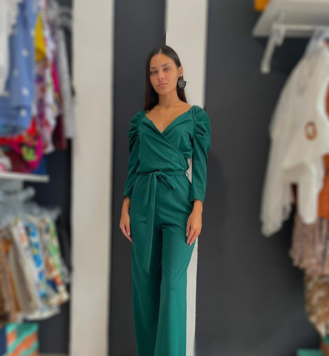 Donatella Green Jumpsuit