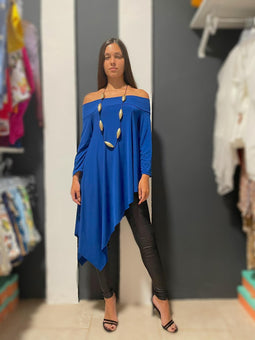Royal blue Stella Asymetric tunic