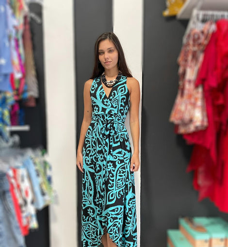 Black Aqua Hi low Maxidress by Pia Colors ❤💙