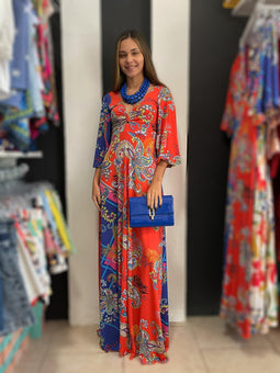 Sophia Blue mix Paisley Maxidress by Pía colors ❤💙