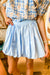 Light Blue Bubble Skirt