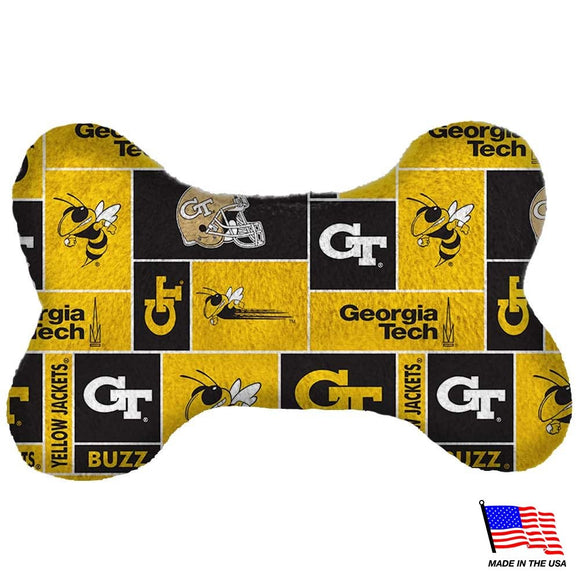 Georgia Tech Plush Bone Toy