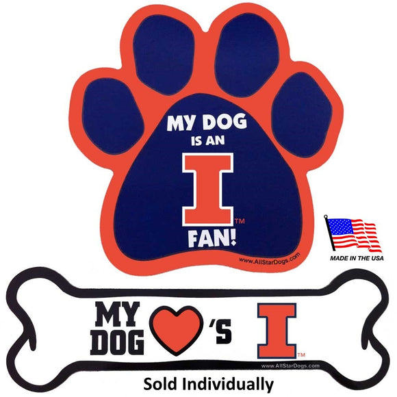 Illinois Fighting Illini Car Magnets