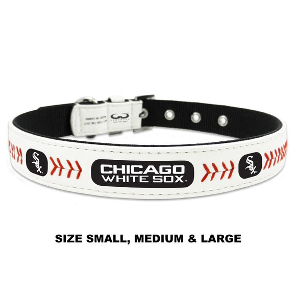 Chicago White Sox Classic Leather Baseball Collar