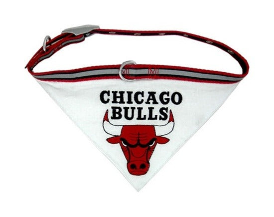 Chicago Bulls Dog Collar Bandana