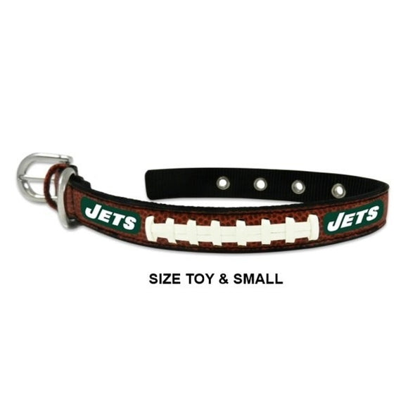 New York Jets Classic Leather Football Collar
