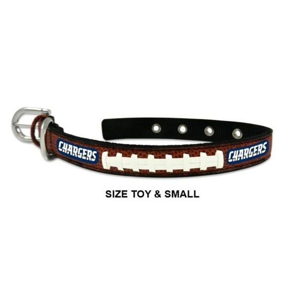 Los Angeles Chargers Classic Leather Football Collar