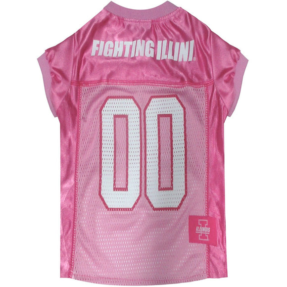 Illinois Fighting Illini Pink Pet Jersey