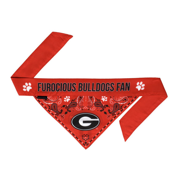 Georgia Bulldogs Pet Reversible Paisley Bandana