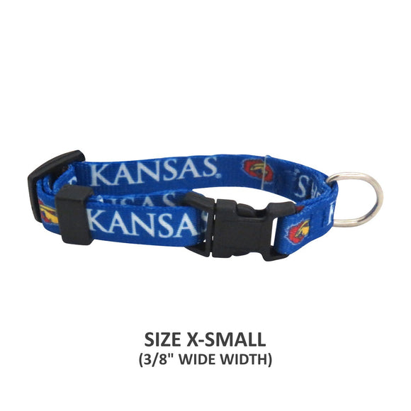 Kansas Jayhawks Pet Nylon Collar