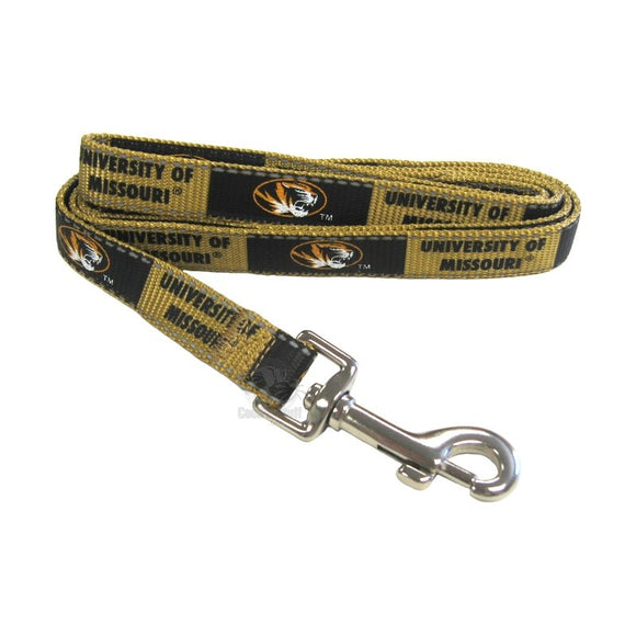 Missouri Tigers Pet Reflective Nylon Leash