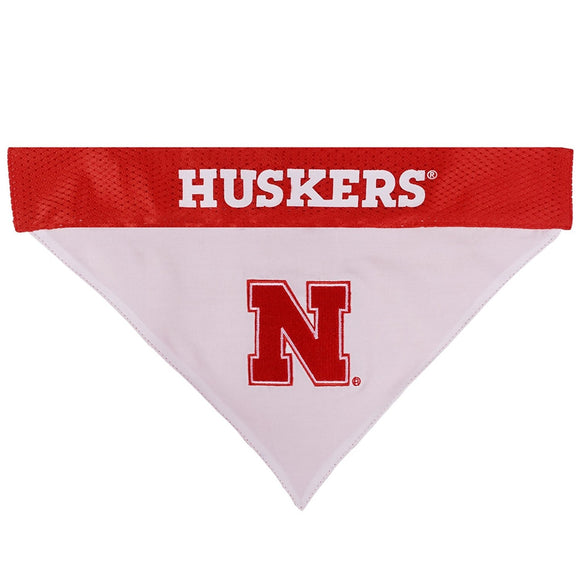 Nebraska Huskers Pet Reversible Bandana