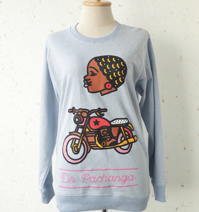 Crew Neck Sweater Motorcycle - DR PACHANGA