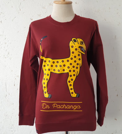 Crew Neck Sweater Leopard - DR PACHANGA