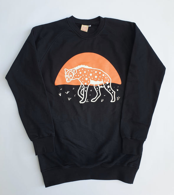 Crew Neck Sweater Hyena Crew Neck Sweater Black / Medium DR PACHANGA