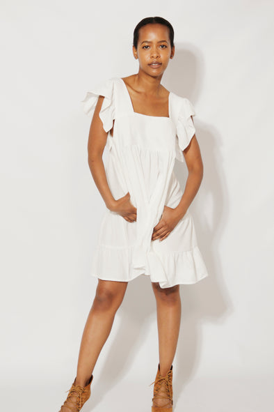Bianca Baby Doll Dress Dress White / Small DR PACHANGA