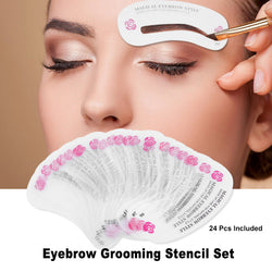 Eyebrow Stencils | 24 pc Set | Premium - neon-circle