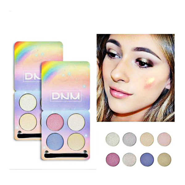 Chameleon Glitter 4 Colors  Eyeshadow Palette with Brush Shimmer - neon-circle