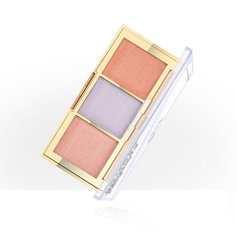 Brighten Light Powder Bronzer Highlighter Makeup  Palette - neon-circle