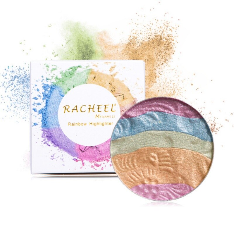 RainBow Eyeshadow Shimmer Palette - neon-circle